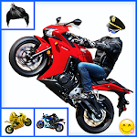 Men Motorbike Racing Rider Photo Suit Editor 2017 Icon
