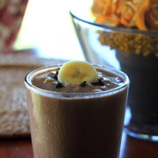 """Skinny"" Rich Chocolate Almond Butter Banana Breakfast Shake {GF & Dairy Free}"