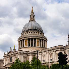 St Paul cathedral by Ankur Gautam - Buildings & Architecture Public & Historical ( st paul, cloudy, public, church, monument, cathedral )