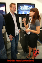 Photo: Chelsey talks with Seth Killian from Resident Evil: The Darkside Chronicles.