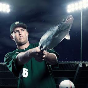 Swing! by Braxton Wilhelmsen - News & Events World Events ( baseball, stadium, advertising, composite, athlete )