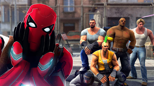 Superhero Ninja Battle: Streets Fighting Robot ss3