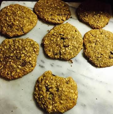 flaxseed, chocolate chip, oatmale cookies