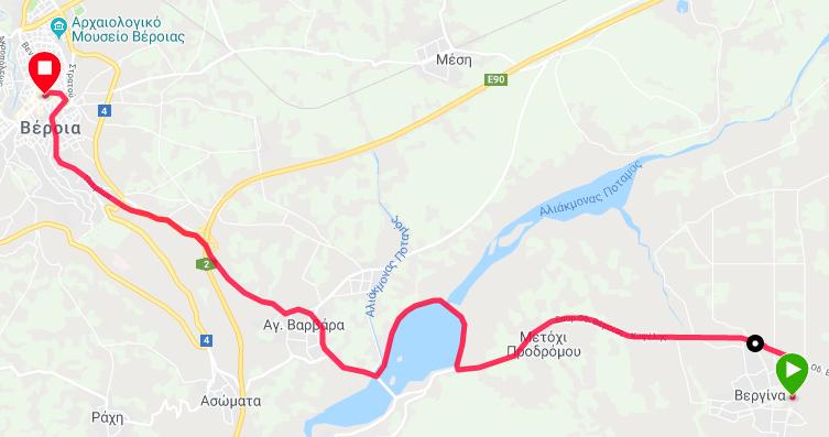 G:\8ος Φιλίππειος δρομος 2019\ΧΑΡΤΕΣ\Φιλίππειος δρομος 14χλμ Βεργινα - Βεροια -Χαρτης.png