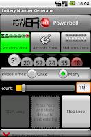 Screenshot of Lotto Number Generator Free
