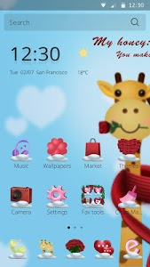 Honey Cartoon Theme screenshot 0