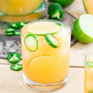 Cantaloupe Lime Jalapeno Agua Fresca.
