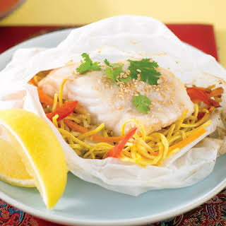 Baked Fish with Noodles.