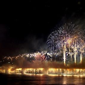 by Kara Brothers - News & Events World Events ( night, lights, fireworks, fire, new year, dipawali, diwali, 2014 )