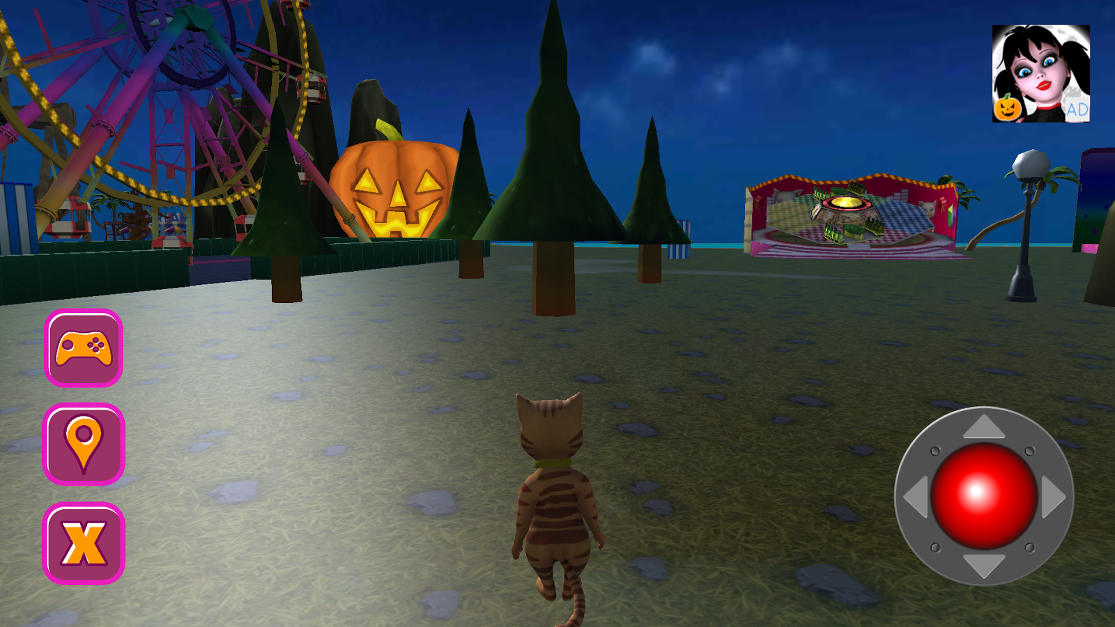 Halloween Cat Theme Park 3D- screenshot