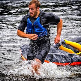 A winner? by Roar & Monika Sæthre - Sports & Fitness Watersports ( water, contest, em10, show, rafting, padling, olympus )