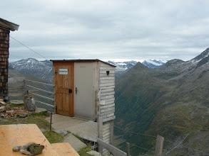 Photo: Großvenediger Toilette an der neuen Prager Hütte mit Glocknerblick