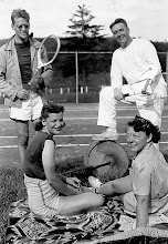 Photo: Ann, Florence, Bill and ? with racket.