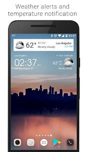Transparent clock weather Premium 7