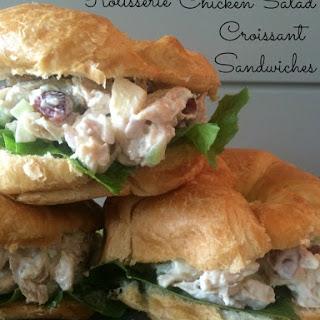 Rotisserie Chicken Salad Croissant Sandwiches.