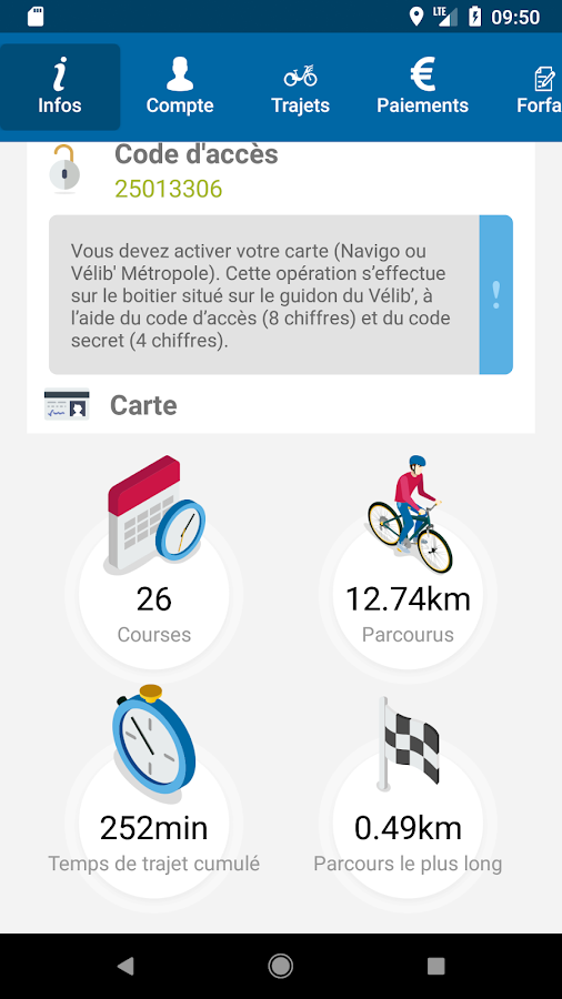 Vélib' (official appli)- screenshot