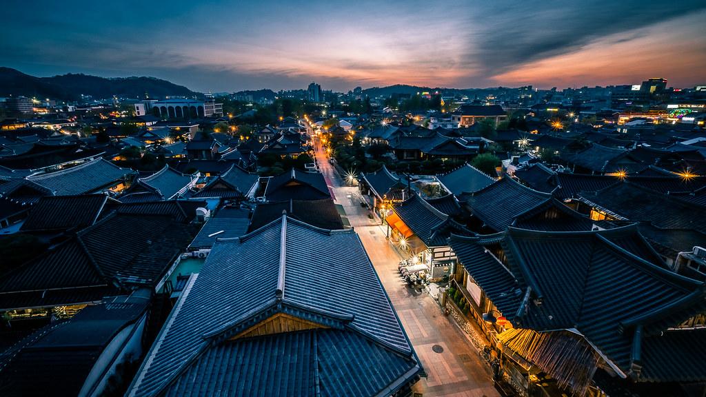 Sunset in Jeonju, Flickr