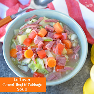 Leftover Corned Beef and Cabbage Soup.