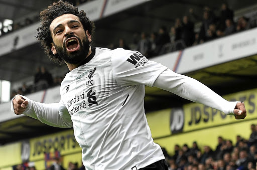 Kingpins: Mohamed Salah celebrates his winner against Crystal Palace. Picture: SUPPLIED