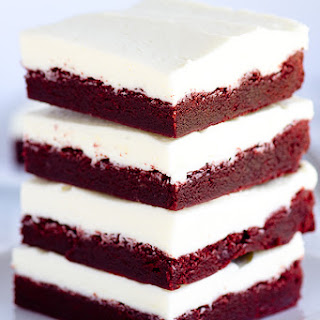 Chewy Red Velvet Bars
