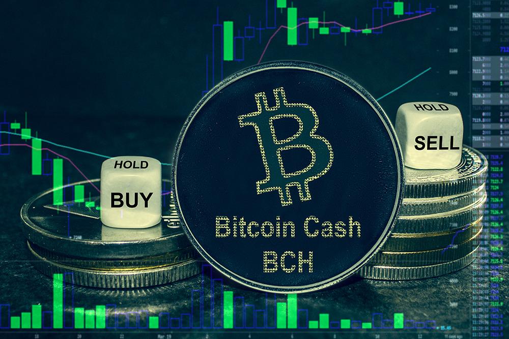 Ilustrasi bitcoin cash untuk jual dan beli