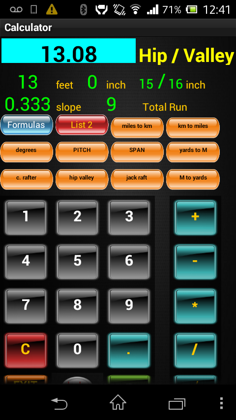 E Z Construction Calculator Android Apps On Google Play
