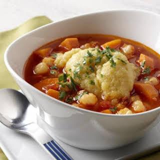 Sweet Potato Pozole with Cumin Polenta.