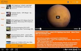 Screenshot of UFO Watch