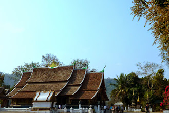 Photo: Luang Prabang is another World Heritage site.  Built in 1559 for royal use, Wat Xieng Thong is the best example of a Laotian monastery in the city.