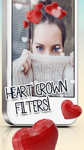 Heart Crown Filter Photo Editor - náhled