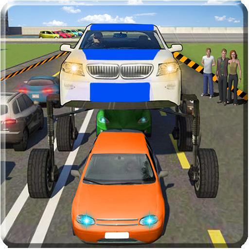 Futuristic Elevated Car Driving Simulator 3d