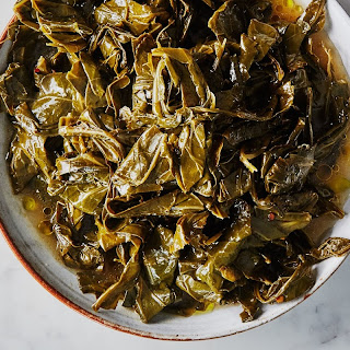 Slow-Cooked Collard Greens in Olive Oil recipe | Epicurious.com.