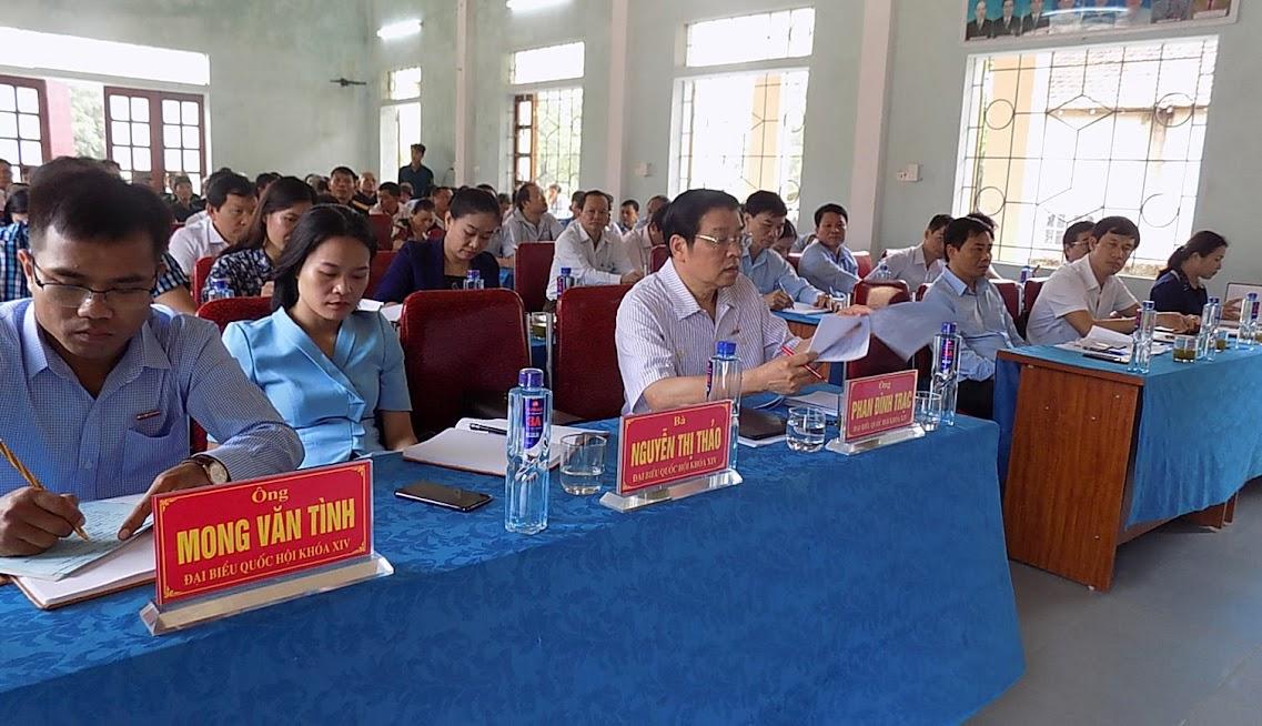 Đoàn đại biểu Quốc hội tiếp xúc cử tri 4 xã của huyện Quỳ Hợp