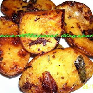 Marinated Potatoes.