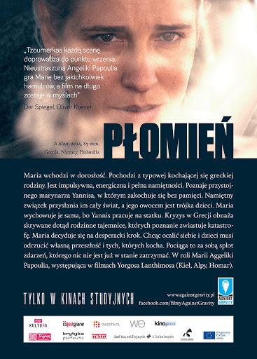 Tył ulotki filmu 'Płomień'