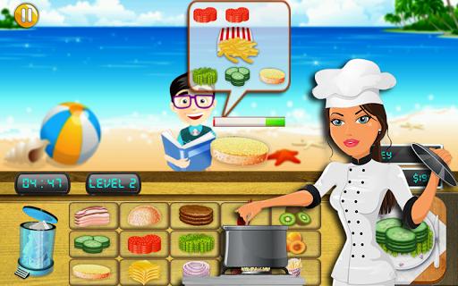 烹饪厨师海滩小酒馆