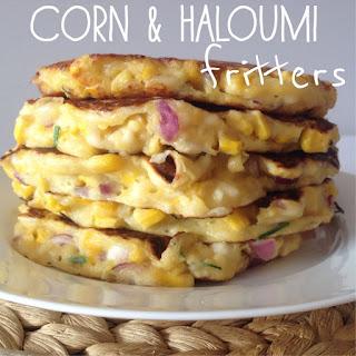 Corn & Haloumi Fritters