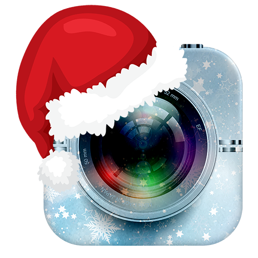 Christmas Photo Editor, Stickers & Collage Maker Icon