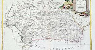 Mapa del antiguo reino de Granada de 1776.