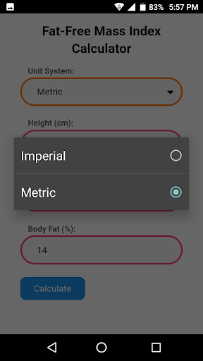 Fat-Free Mass Index Calculator 3.0 screenshots 2