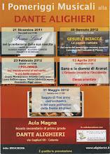"""Photo: locandina """"Pomeriggi musicali alla Dante"""" a.s. 2011/2012"""