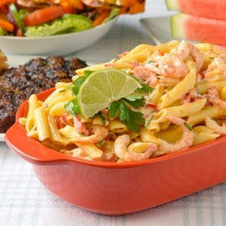 Penne Pasta Salad with Shrimp Chili & Lime.