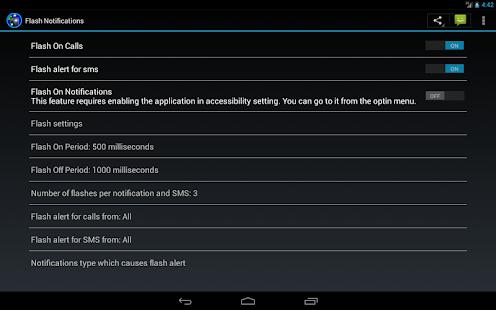 flash on call & notifications screenshot