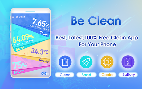 Be Clean - Best, Latest and Free Cleaner & Booster for PC-Windows 7,8,10 and Mac apk screenshot 1