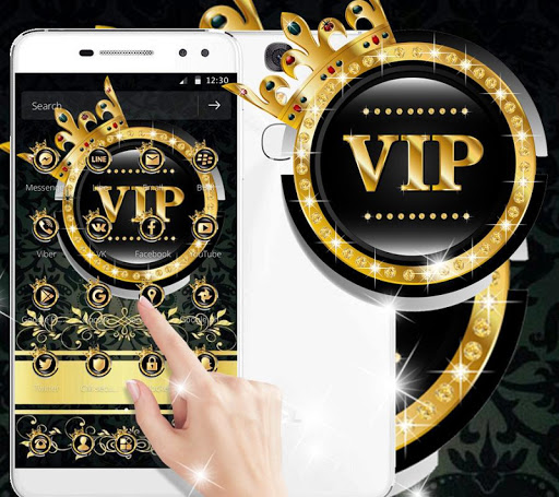 Gold Black Crown VIP Theme hack tool