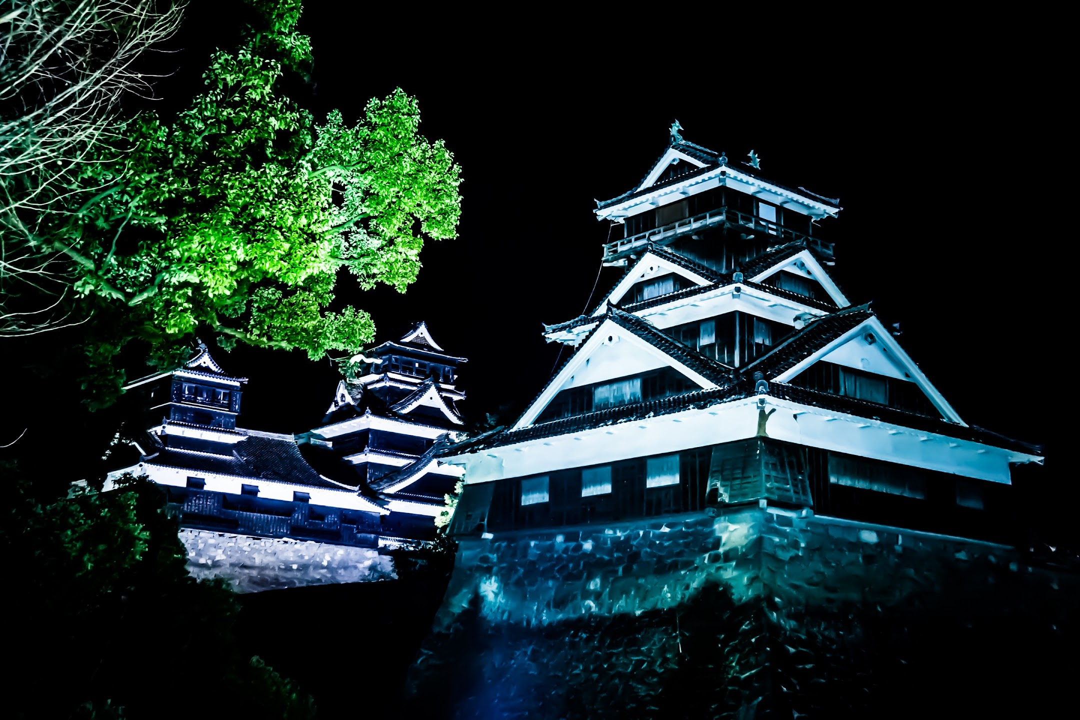 Kumamoto Castle Kato Shrine light-up1