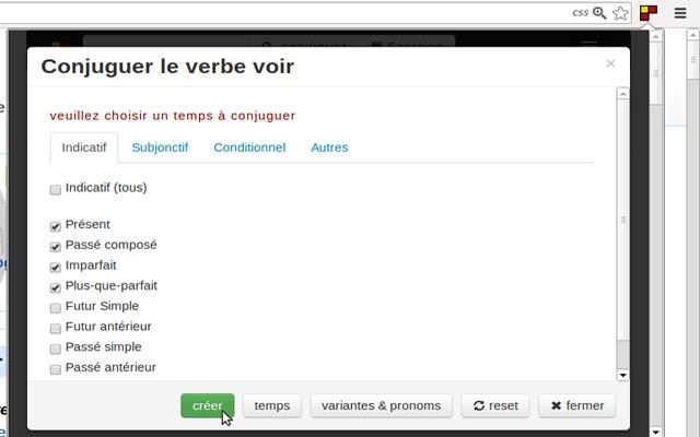 Conjugaison Francaise Commentconjuguer Com Chrome ¦ェブストア