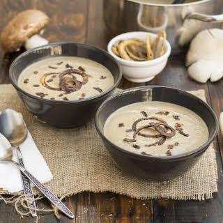 Creamy Italian mushroom soup with black garlic & porcini.