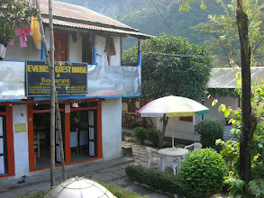 Photo: Our guesthouse in Bhulbule (850 metres)