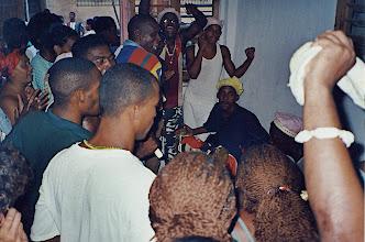 Photo: Tambours batas dans un anniversaire de Saint (Chango)